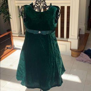 Girls formal velvet dress